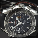Black bezel rubber strap omega seamaster planet ocean chronograph swiss replica watch