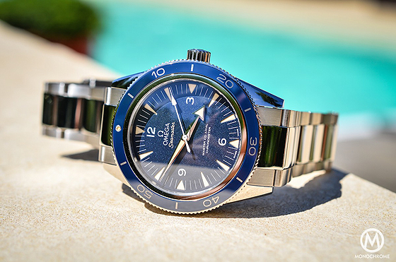 Omega Seamaster 300 Master Co-Axial - titanium - by pool