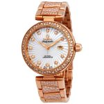 Omega De Ville Ladymatic Automatic Ladies 18 Carat Rose Gold Watch 425.65.34.20.55.005
