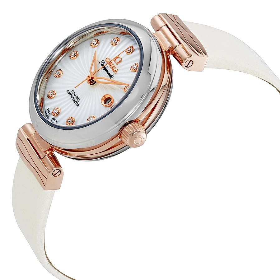 Omega De Ville Ladymatic Mother of Pearl Diamond Ladies Watch 425.22.34.20.55.001