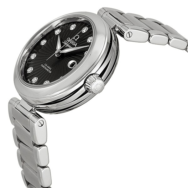 Omega DeVille Ladymatic Diamond Automatic Black Dial Ladies Watch 425.30.34.20.51.001