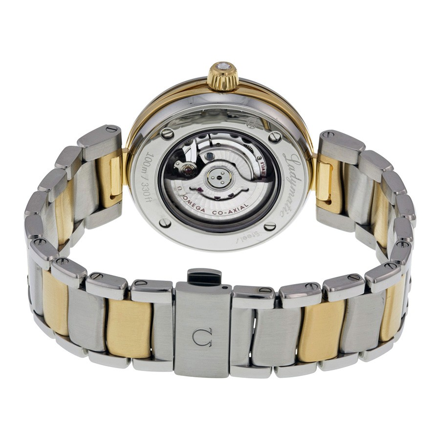 Omega DeVille Ladymatic Mother of Pearl Stainless Steel and Yellow Gold Ladies Watch 42525342055002